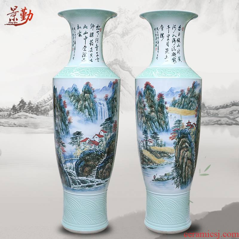 Jingdezhen ceramic large vases, all hand hand picked hotels sitting room adornment