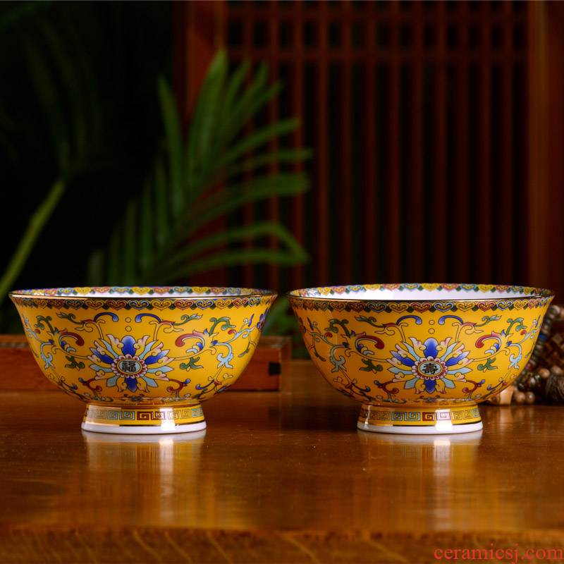 Jingdezhen ceramic bowl up phnom penh live use the custom reply Chinese style household rice noodles soup bowl archaize tableware bowls