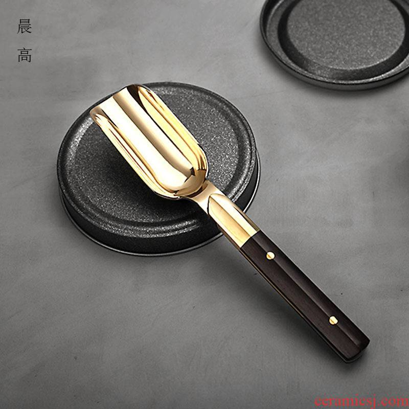 Morning tea, high pure copper take tea spoon run shovel points tea spoon tea six gentleman tea accessories