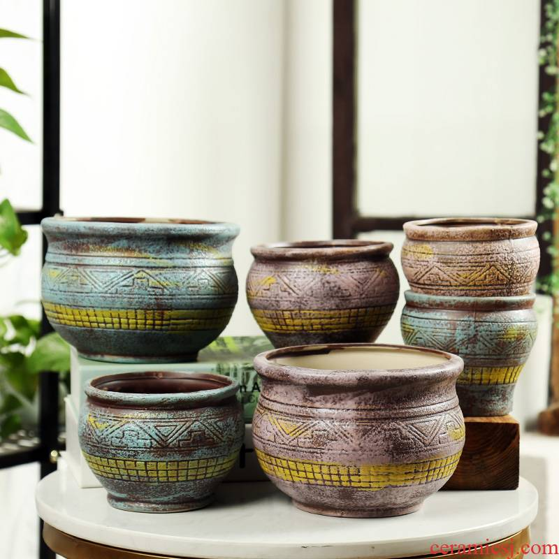 End fleshy flowerpot ceramic in the Europe type restoring ancient ways, flesh POTS, special offer a clearance breathable classic green plant POTS
