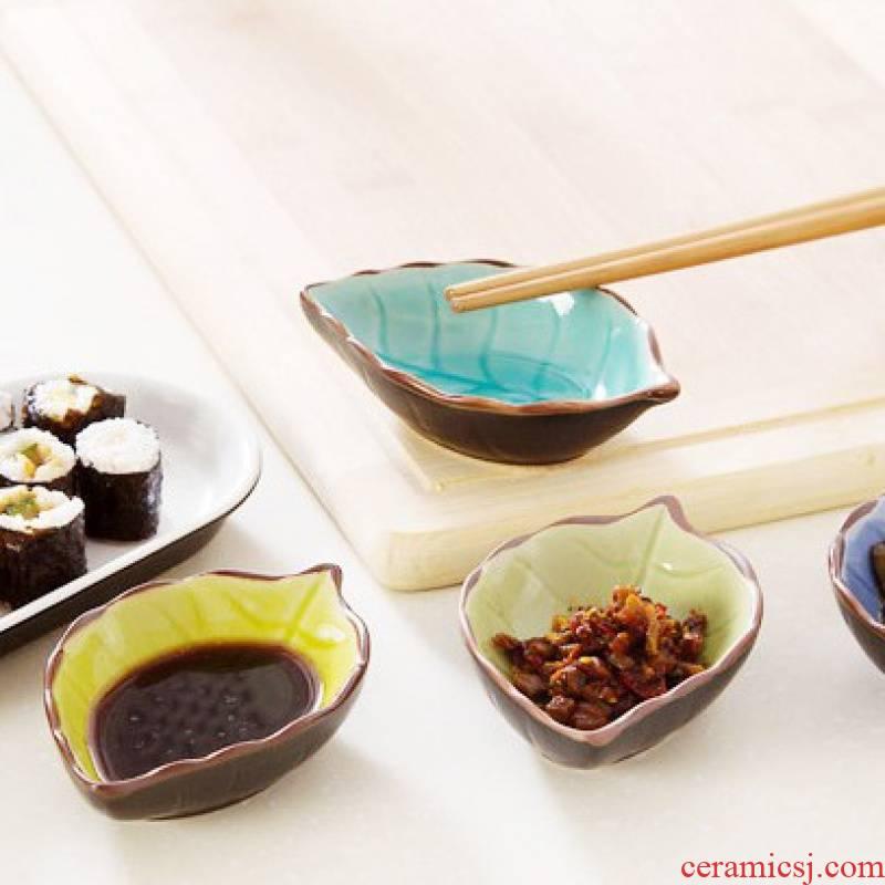 Jingdezhen ceramics serving Japanese tableware vinegar dish of soy sauce dish flavor dish dish dish creative snack plates