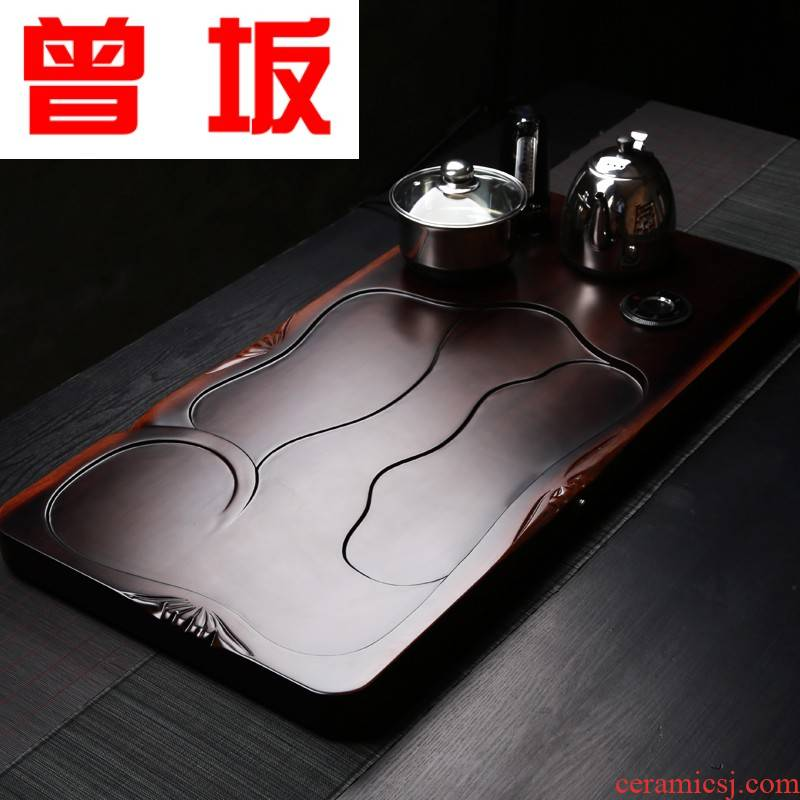 The Who -- large kembat tea sets tea sea kung fu tea set log wood tea tray saucer drawer storage type