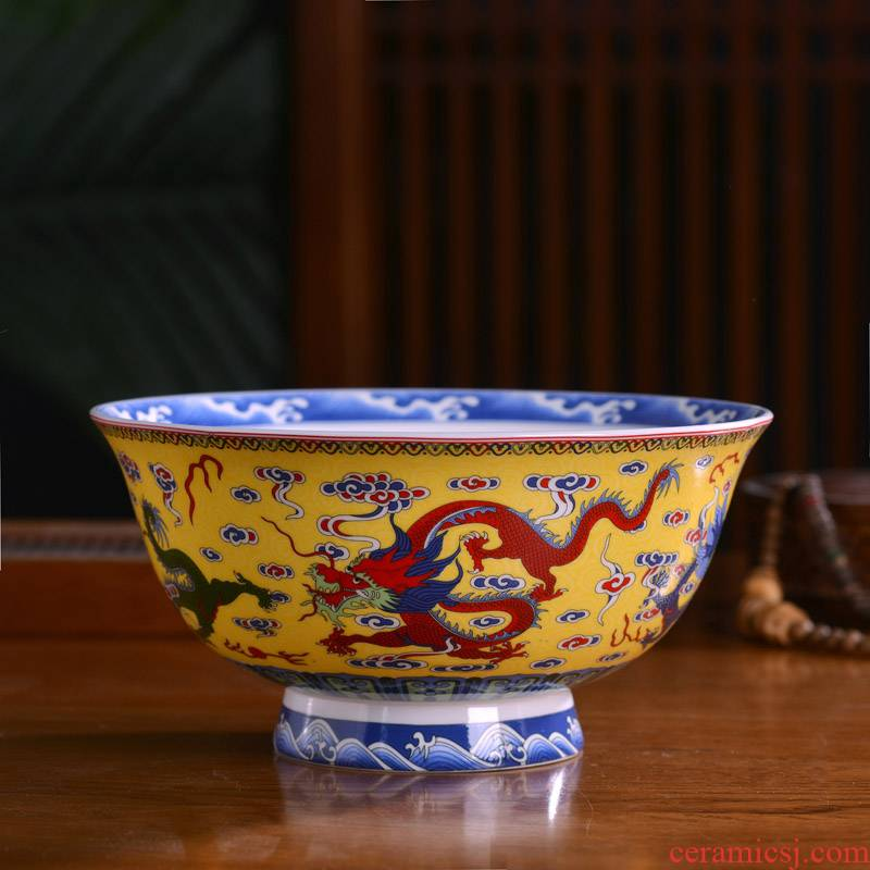 Big rainbow such use Chinese ipads porcelain of jingdezhen ceramics Big customized archaize hotel tableware longevity bowl of such soup bowl such shop
