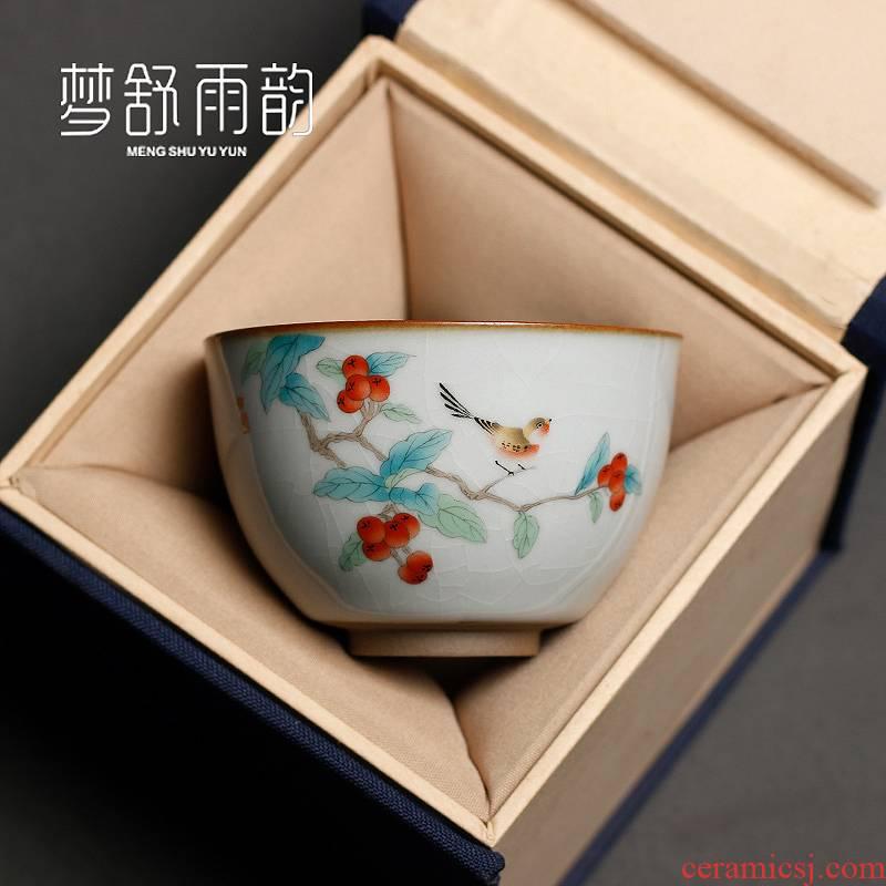 "Your up master kung fu tea tea cup cup single cup ""women start sample tea cup a single large porcelain bowl ceramics"