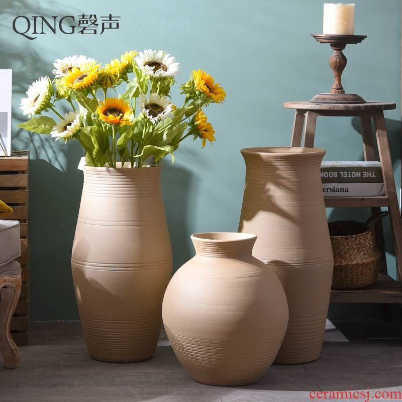 Coarse some ceramic porcelain vase Nordic sitting room hotel villa furnishing articles dried flower arranging flowers simulation flower POTS landing ornament