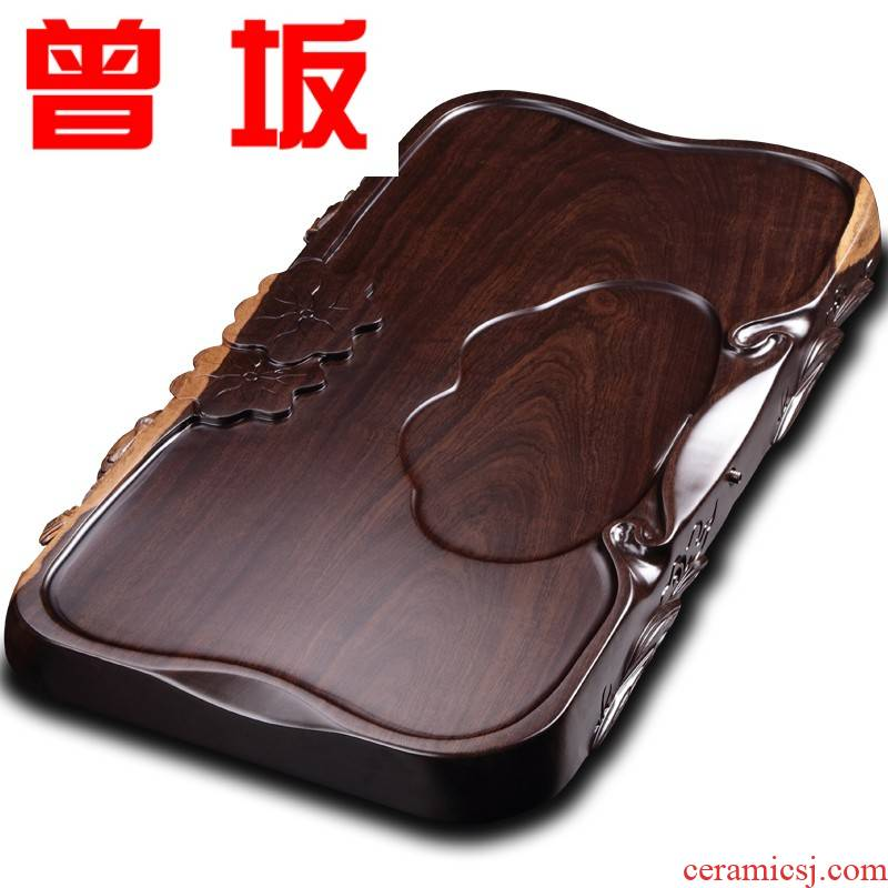 The Who -- tea set the whole piece of the original natural ebony log tea table annatto tea sea wood ground drainage saucer