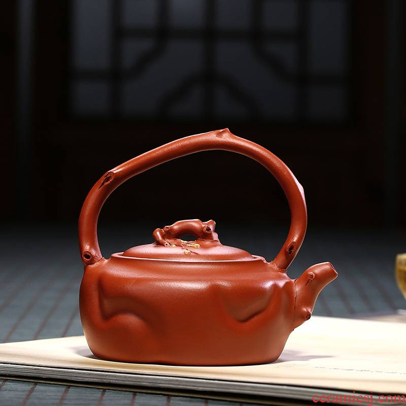 Yixing masters are it pure manual teapot undressed ore mud zhu kung fu tea set may running the girder household teapot