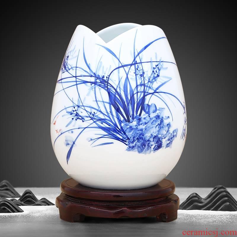 Jingdezhen ceramic hand - made color bucket hydroponic flower arranging device vase handicraft furnishing articles sitting room room decoration decoration
