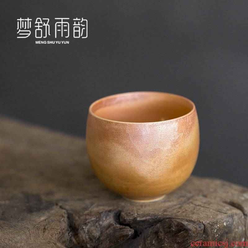Dream ShuYu rhyme pure manual hand embryo firewood coarse after getting personal single glass ceramic cups tea masters cup