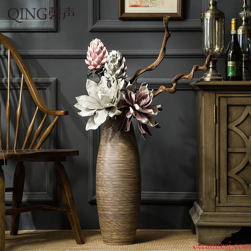 The Large vase furnishing articles sitting room TV ark, home decoration contracted and I ceramic flower arranging dried flower porcelain decoration