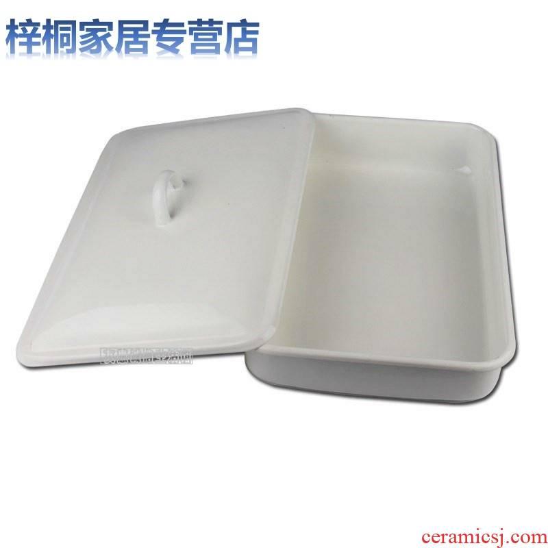 Enamel 40 cm * 60 cm square plate thickening chemical square plate and alkali tray Enamel baking tray