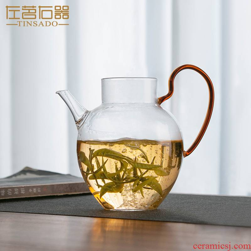 ZuoMing right device) a whole glass fair keller kung fu tea set the teapot in tea single take tea, upset