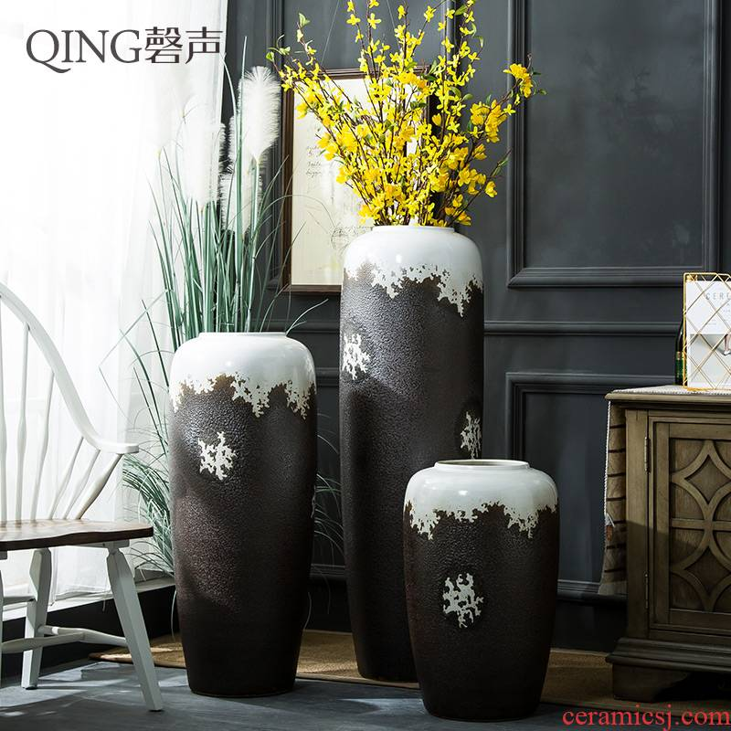 Ceramic vase furnishing articles sitting room TV cabinet decoration flower arranging dried flowers of large porcelain contracted and I household pottery