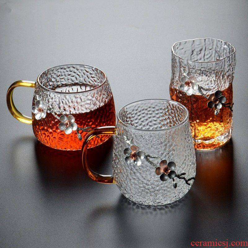 Hammer the glass tea cup with the large office ultimately responds cup of female with cover juice cup hot tea cups