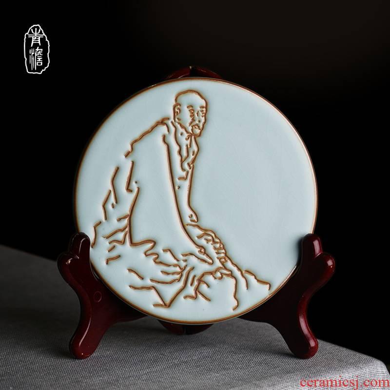 Your up pot holder, ceramic retro hand pad crack household celadon jingdezhen porcelain teapot kung fu tea accessories