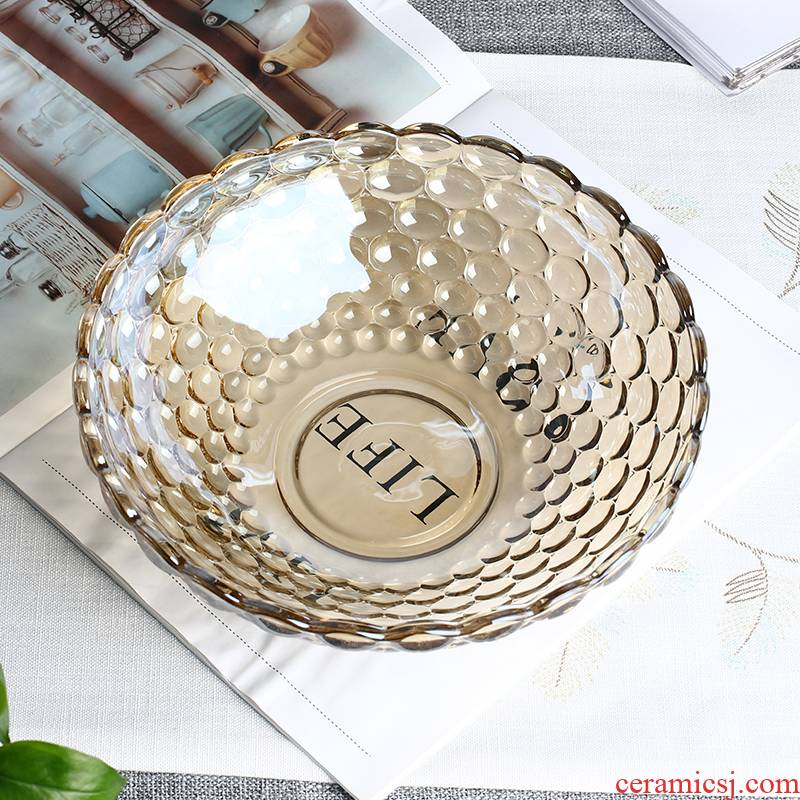 Fruit bowl boreal Europe style individuality creative home sitting room tea table dry Fruit tray candy dishes crystal glass Fruit bowl