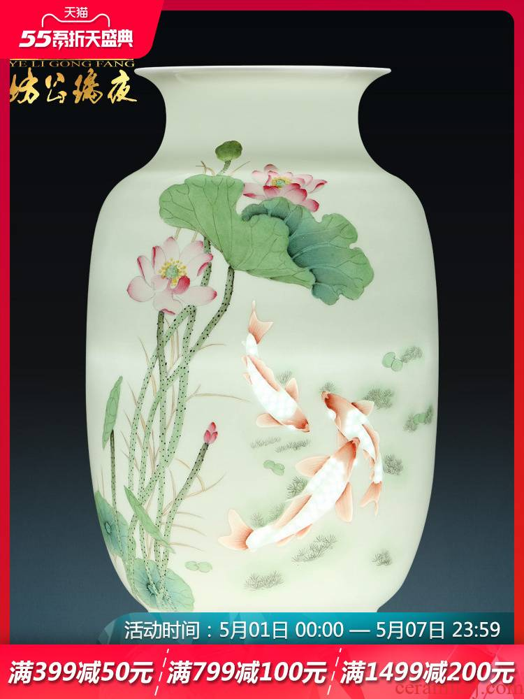 Jingdezhen ceramics hand - made years more vases, flower arranging place to live in the sitting room porch handicraft decoration