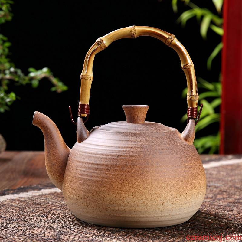 Home tea ceramic electric TaoLu flame'm earthen POTS girder kettle pot to boil tea, large capacity large restoring ancient ways