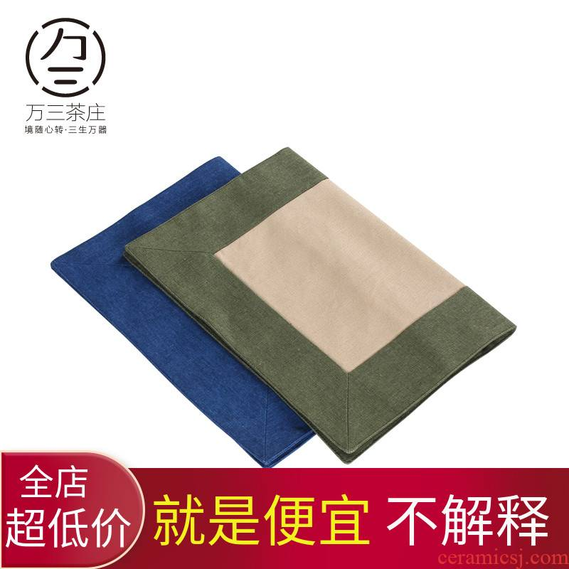 Three thousand tea tea table dry tea shade manual cloth cotton and linen tablecloth of type of flag mat tea accessories