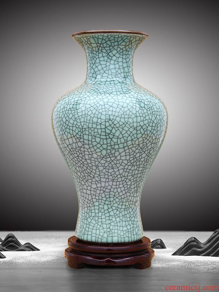Jingdezhen ceramic vase furnishing articles is Chinese style of the ancients up sitting room home decoration flower arrangement craft bottles