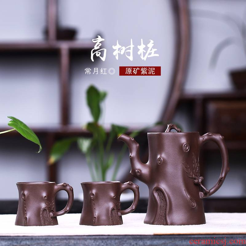 Yixing are it by the manual undressed ore zisha teapot teacup suit kung fu tea teapot tea cups