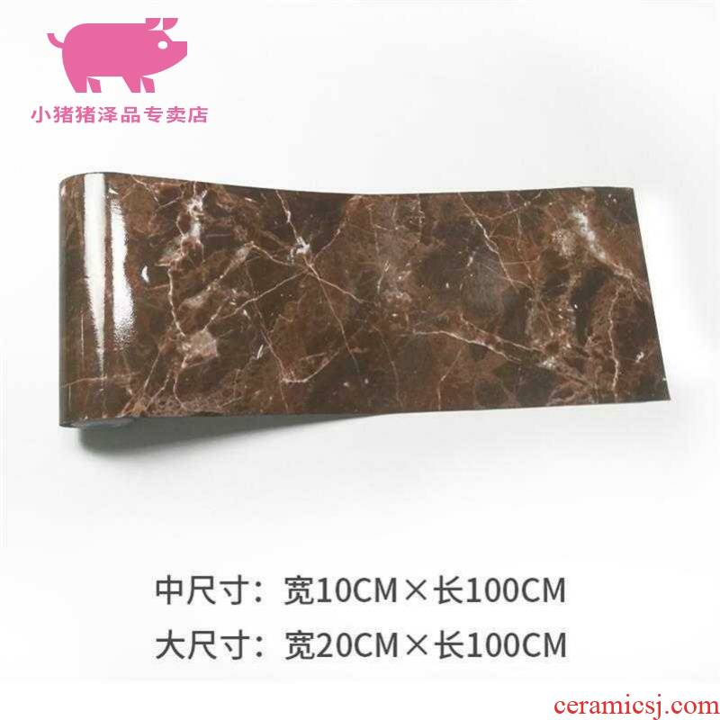 Can post the marble floor of stone tile threshold stone stickers of stone wall feel waterproof wear - resistant adhesive