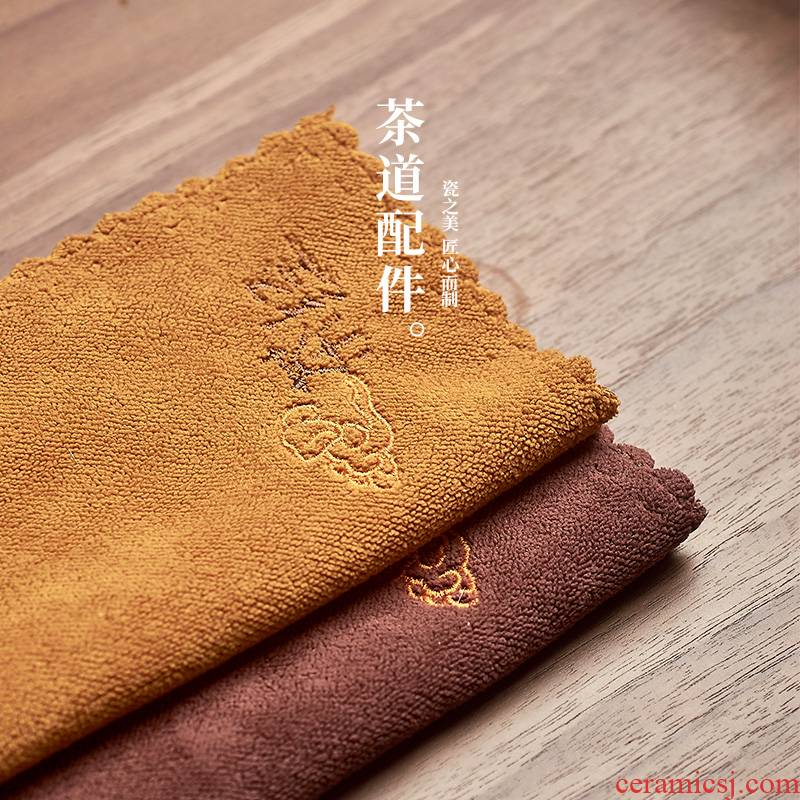 The high time kung fu tea tea tray tea accessories bibulous tea towel cloth towel cloth thickening antependium household contracted