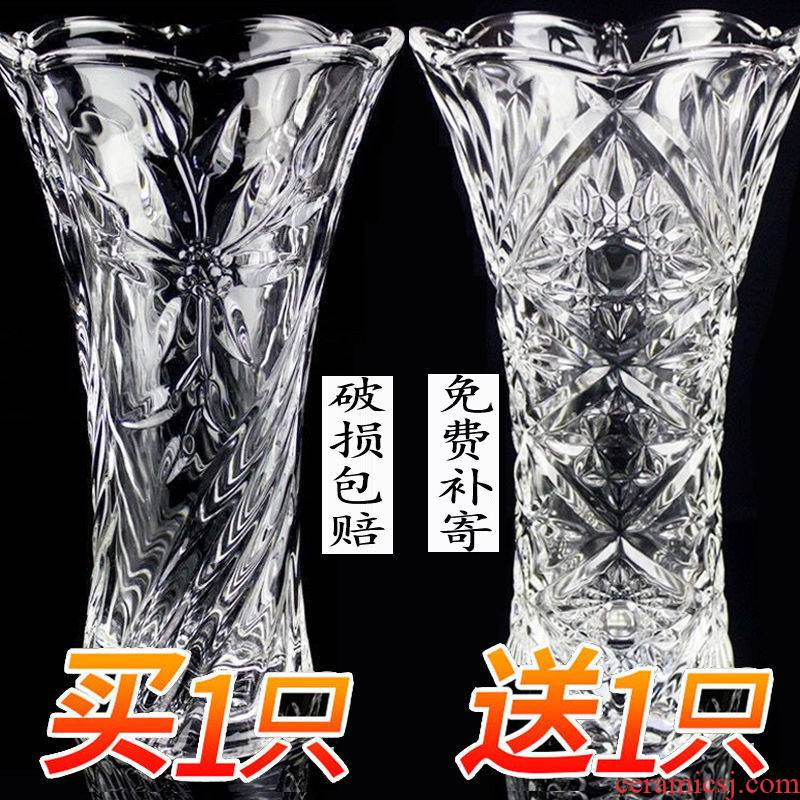 More new large vases, glass transparent sitting room place a hydroponic lucky bamboo lily dry flower porcelain vase