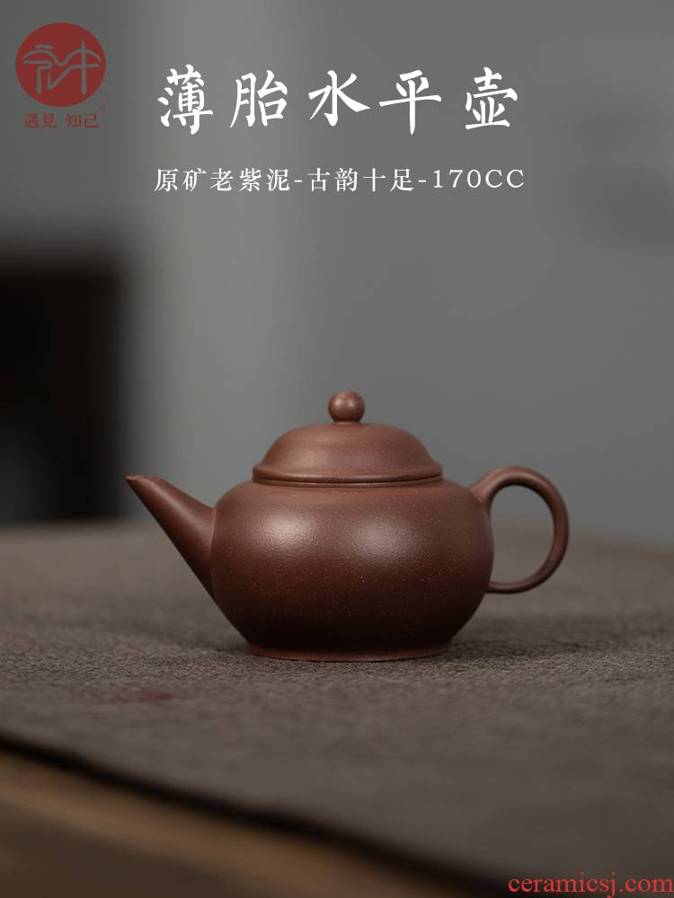 Macros in yixing masters are it level of pure manual and old purple clay teapot pot home office pot