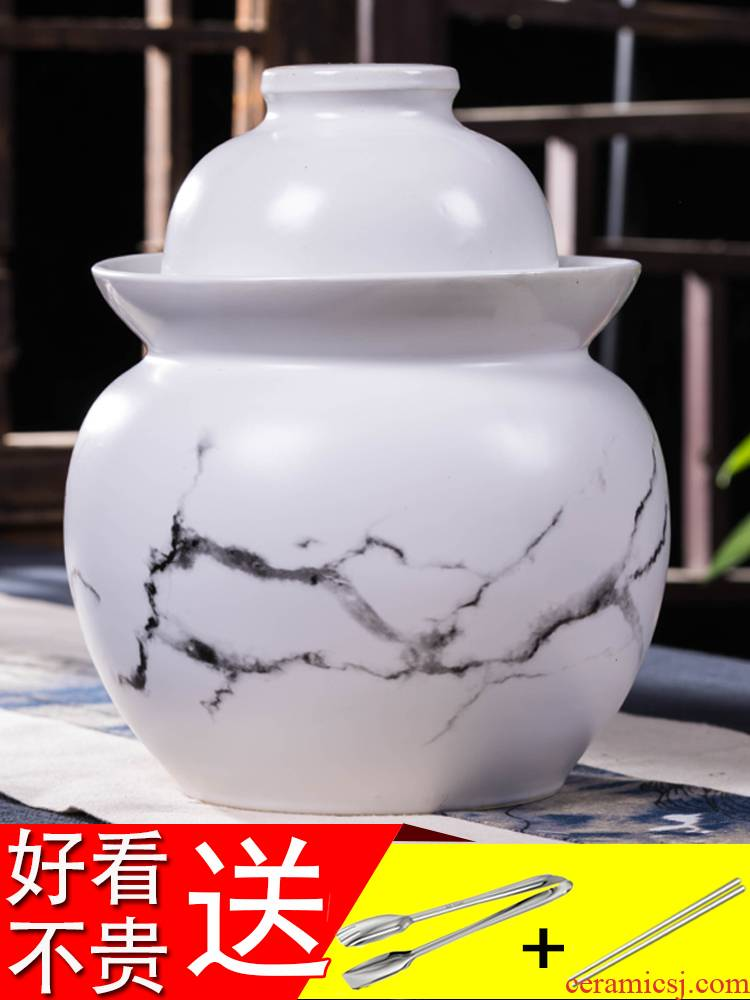 Ceramics thickening pickle jar sealing earthenware with cover pickled pickles jar household size sichuan pickled