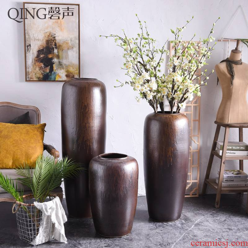 Restore ancient ways do old clay ceramic vase furnishing articles sitting room porch dried flower arranging flowers Chinese TV ark hotel big porcelain