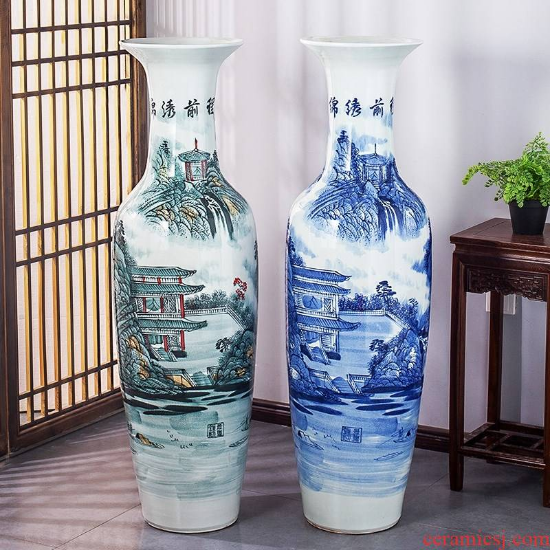 061 jingdezhen ceramics manual hand - made bright future of large vase hotel furnishing articles with a living room