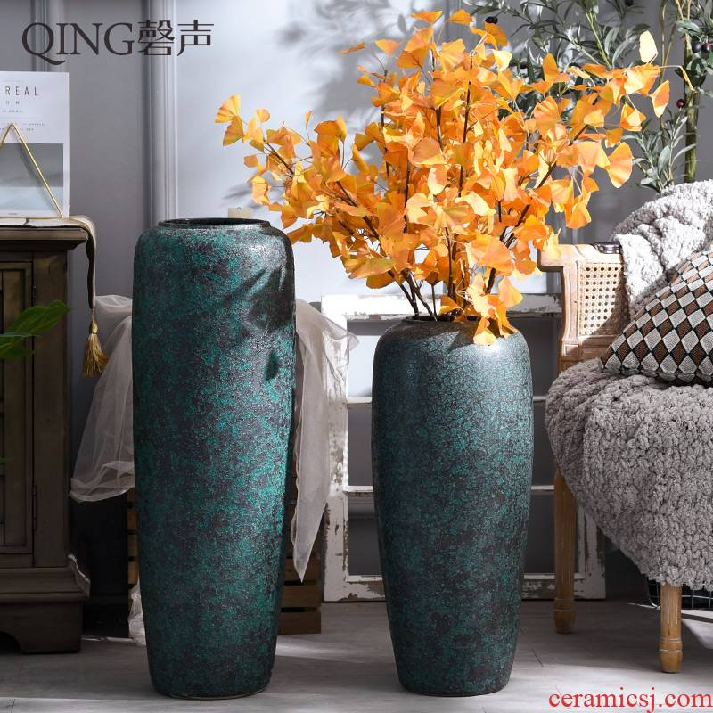 Large vases, dried flower decorations ceramics jingdezhen modern style furnishing articles sitting room ground flower arranging flower decoration