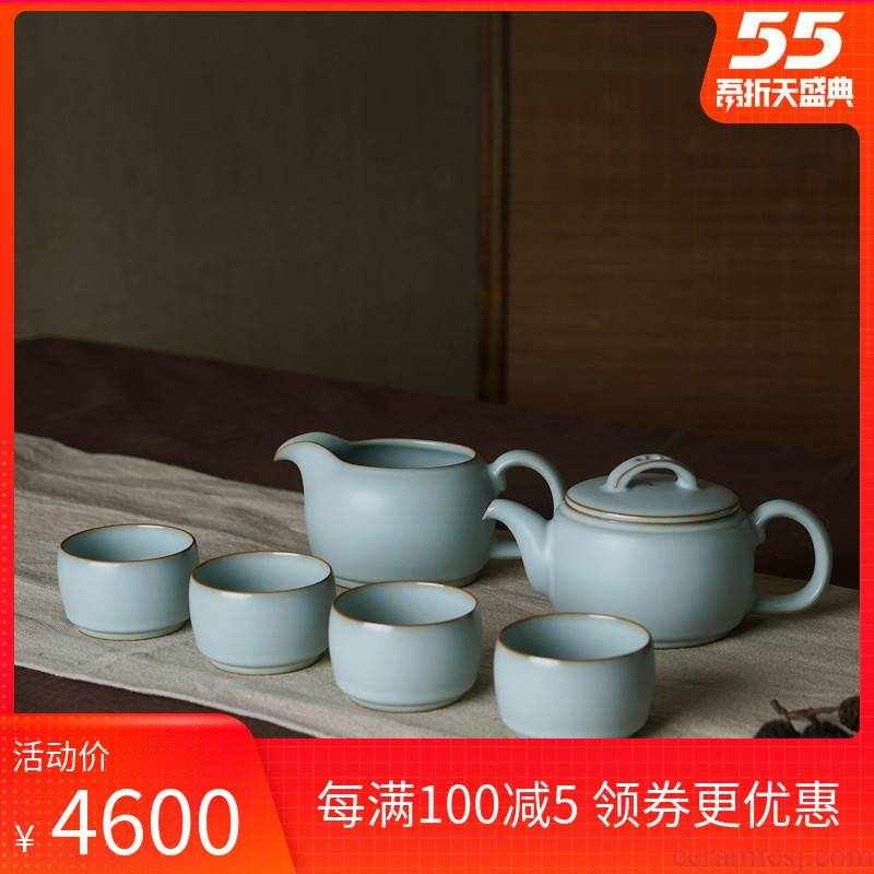 Hand your up the was suit household gift boxes jingdezhen ceramic gifts Chinese archaize of contracted celadon porcelain