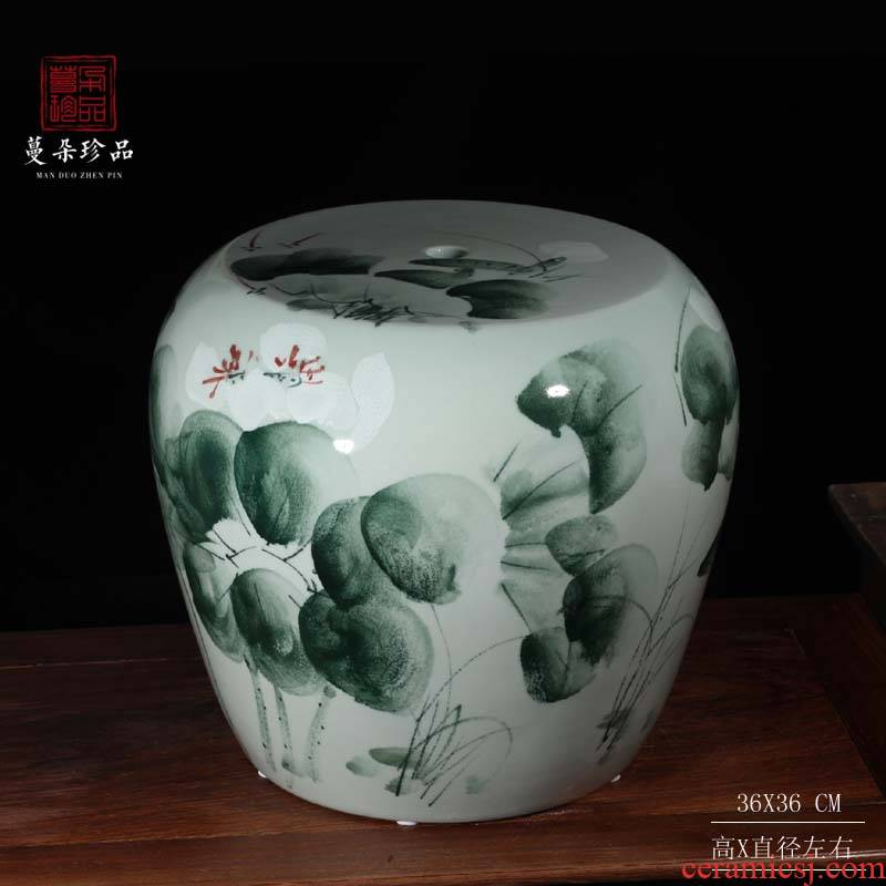 Jingdezhen hand - made fashion elegant ceramic porcelain who large pretty safe shoe ark, porcelain who