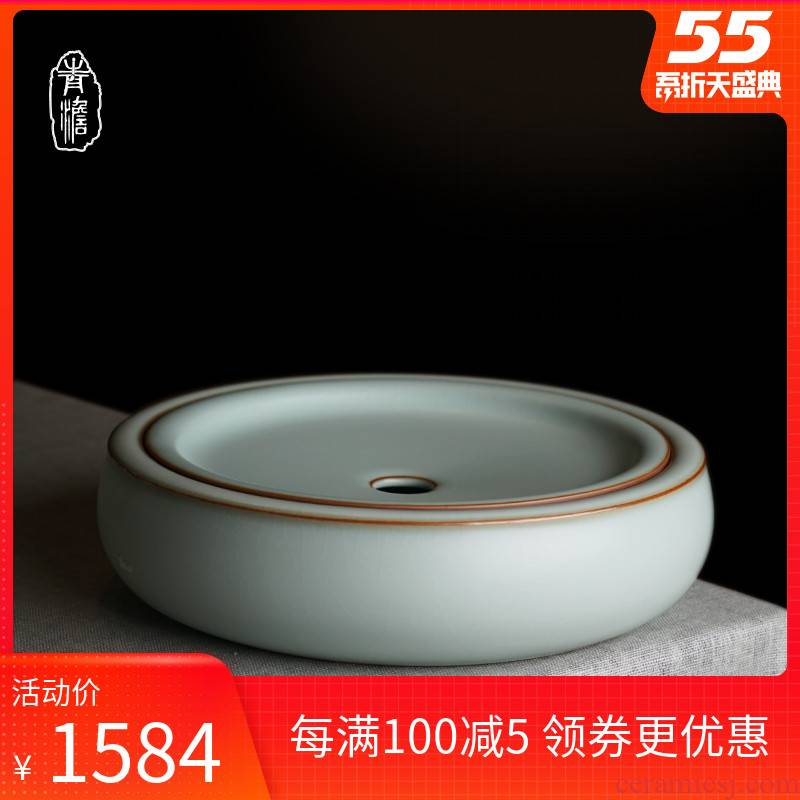Your up dry terms Taiwan tea tray was jingdezhen ceramic checking pot bearing household small tea tea tea accessories bearing celadon
