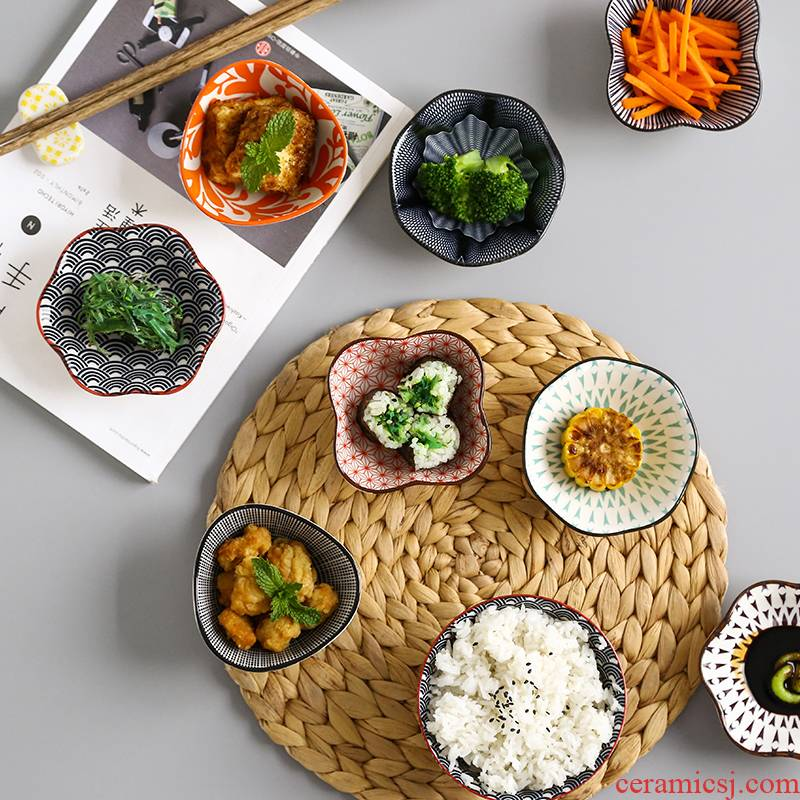 Dip drives home four ceramic small dishes creative soy sauce vinegar disc move Nordic hotel ltd. flavor dishes
