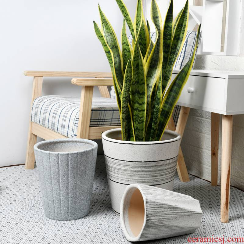 Ceramic POTS oversized bag mail sitting room courtyard ground green plant money tree rich tree big flowerpot wholesale clearance