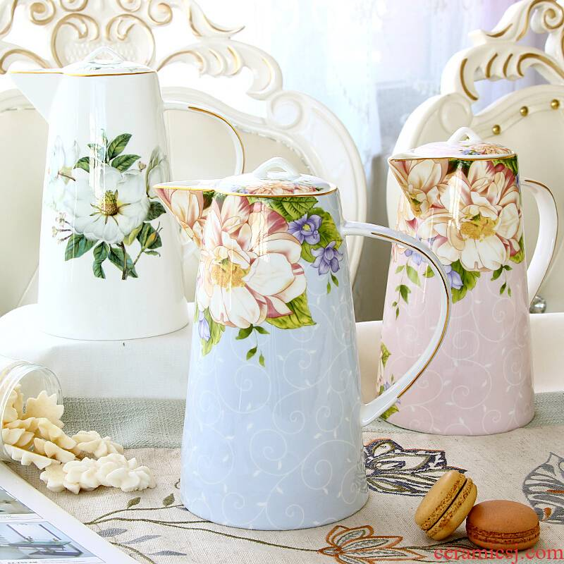 Goods to transport 】 【 cold ceramic cup with household water kettle suit European heat - resisting teapot