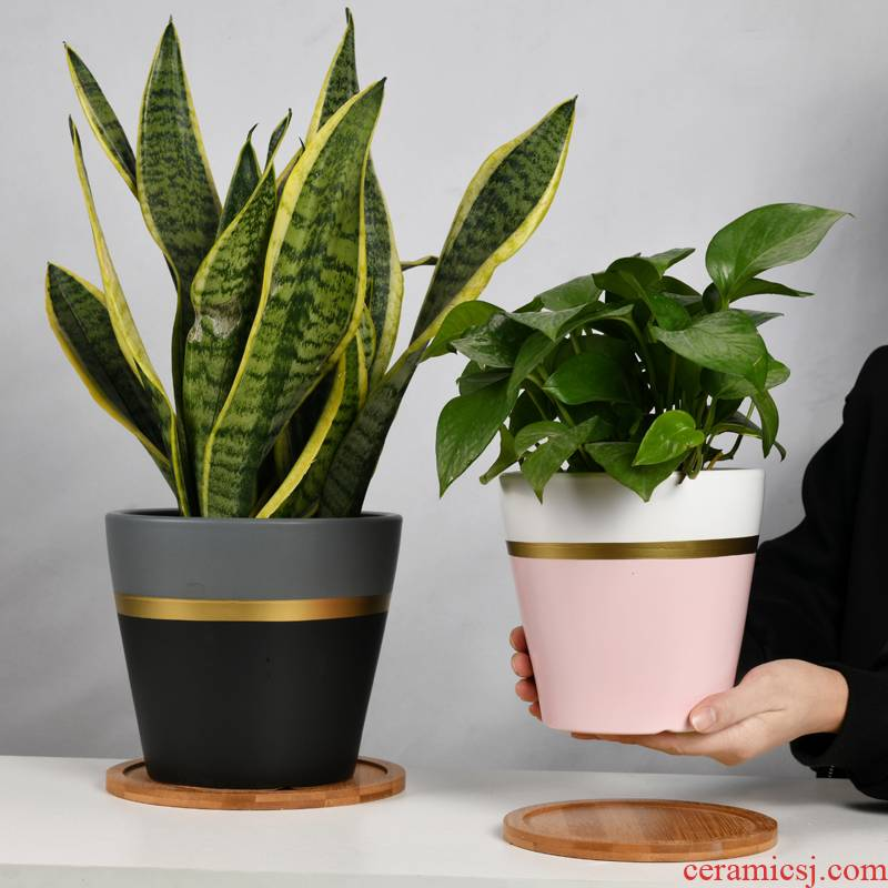 European contracted ceramic flower pot large clearance other clivia sitting room indoor household wholesale flower pot with tray
