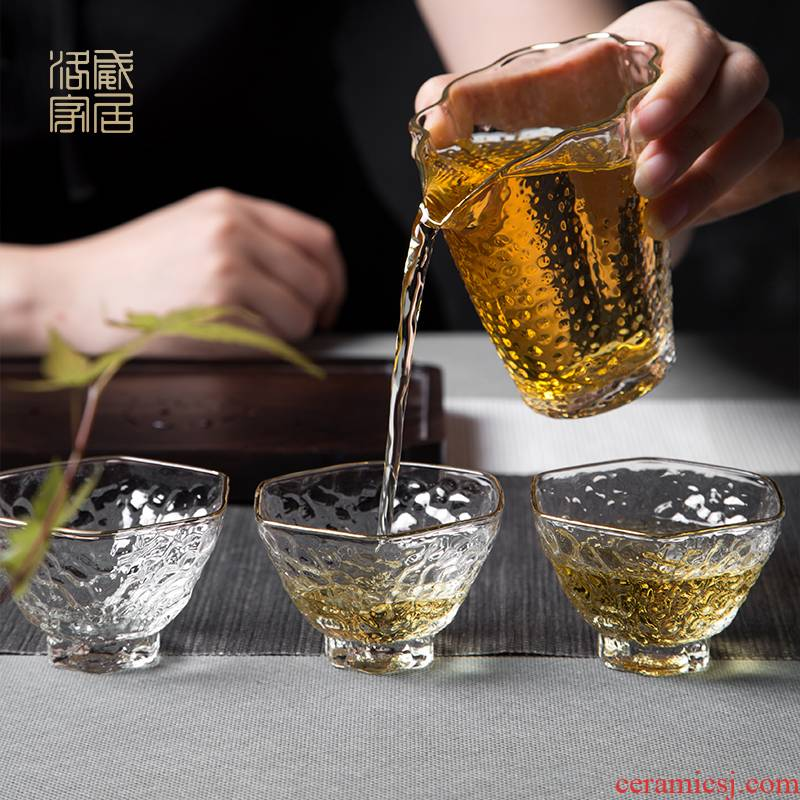 The High borosilicate glass cup, master cup sample tea cup cold how in jingdezhen domestic heat - resistant kung fu tea cup