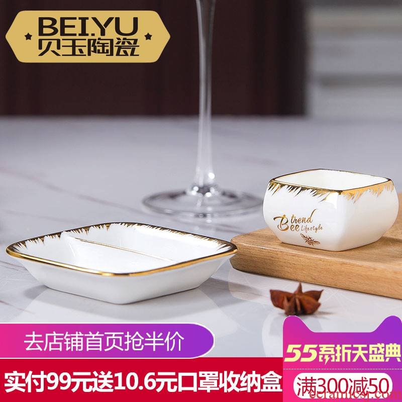 BeiYu bee ipads China flavour dish ceramic disc dipping sauce vinegar sauce dish creative dish of soy sauce small home plate