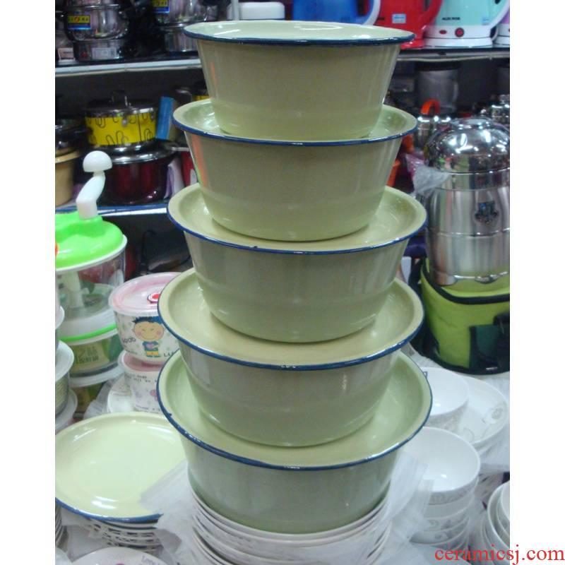 14 to 24 cm with cover enamel pot enamel enamel bowl soup basin enamel pot enamel disc