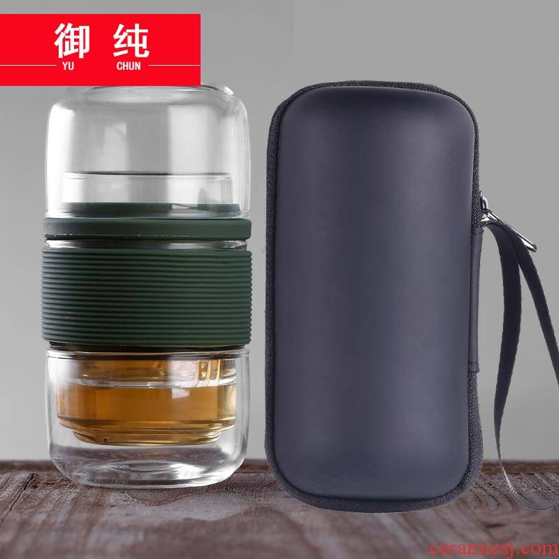 Royal pure is suing portable travel more kung fu tea set package Tours filter glass crack cup tea cup