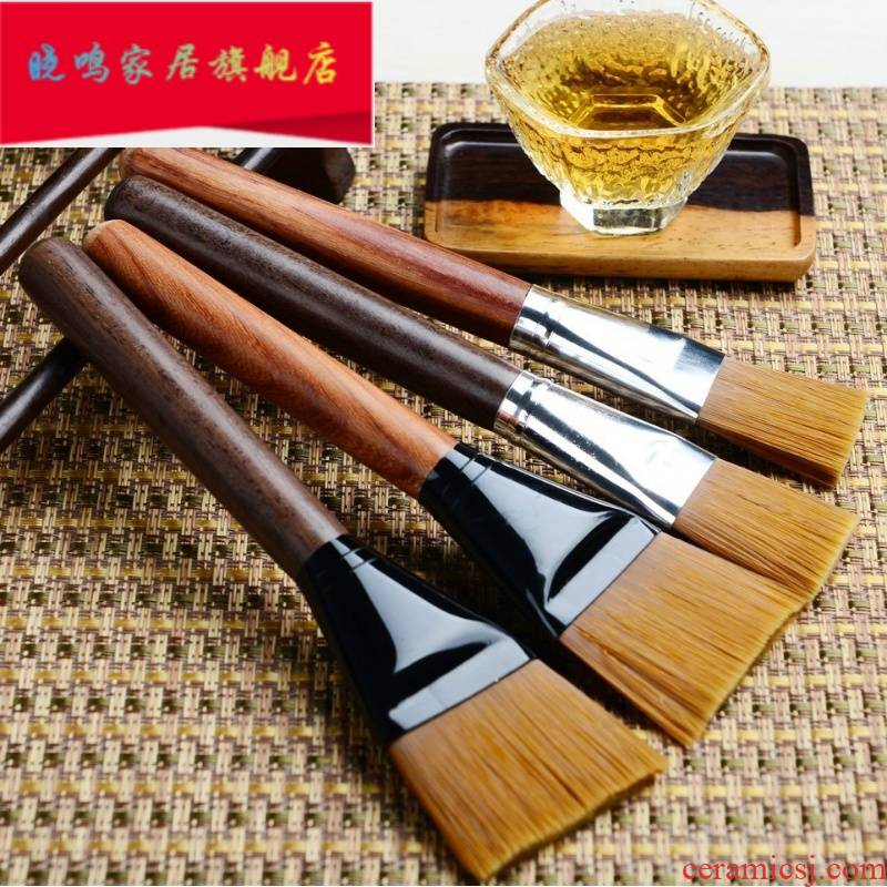 Brush ebony hard Brush to clean tea tea table accessories desktop broom cup tea to wash with clean water