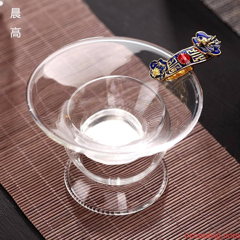 Morning high heat - resistant creative glass) filter kung fu tea tea accessories tea strainer every tea filter is good