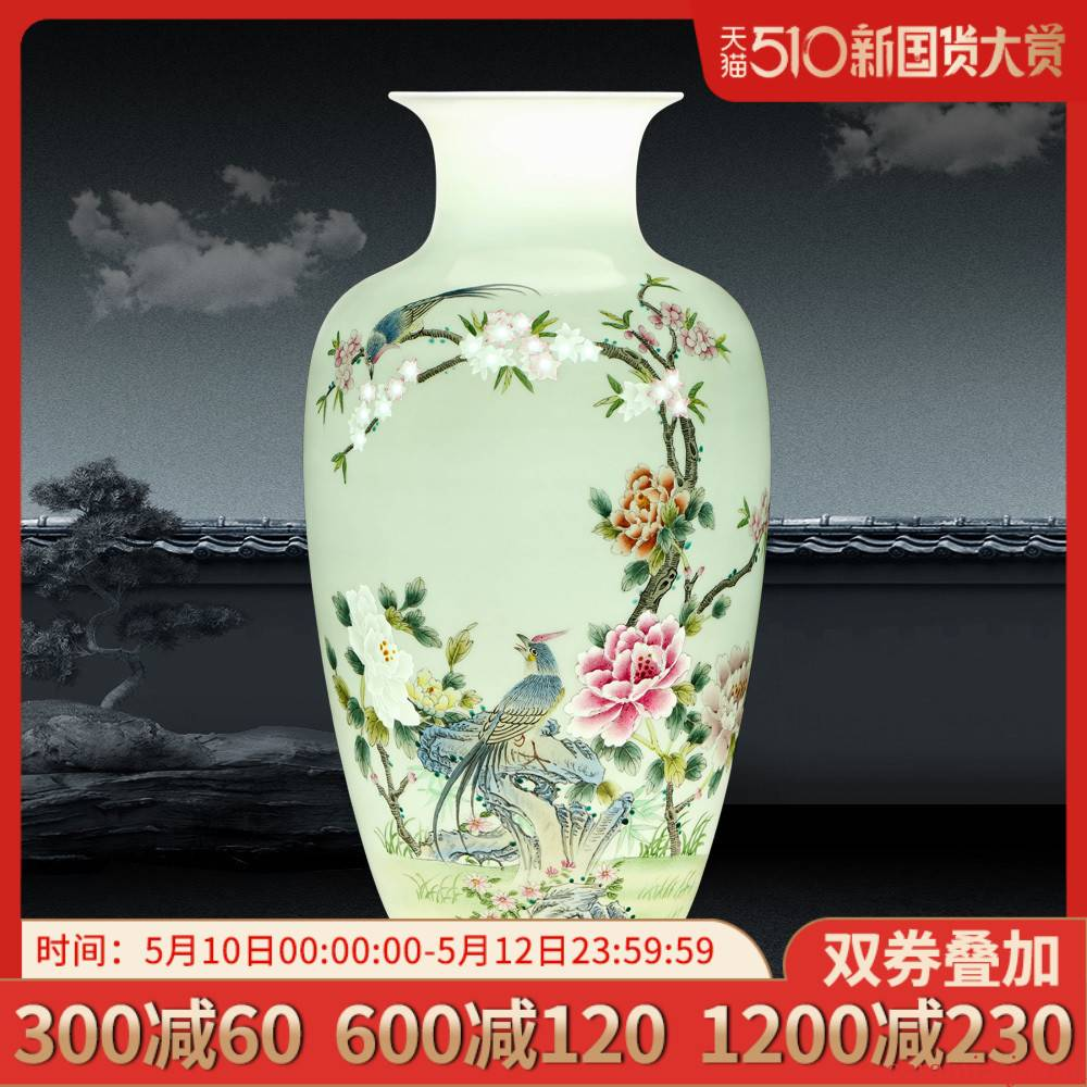 Jingdezhen hand - made vases, flower arranging new Chinese style household ceramics handicraft sitting room porch ark adornment furnishing articles