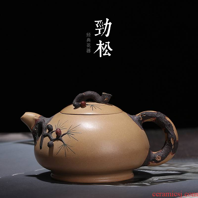 Undressed ore section of mud jinsong it chorale ink all hand wang fang craft teapot collection certificate matching little teapot