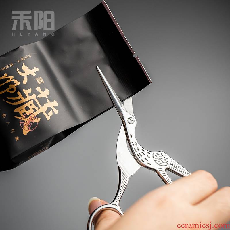 Send Yang retro crane tea tea tea mercifully bag package scissors scissors accessories kung fu tea tea taking with zero