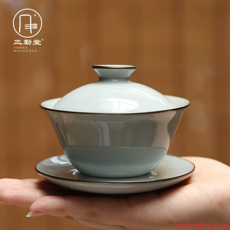 The three frequently tureen jingdezhen kung fu tea tureen ceramic cups S14008 only three bowls of imperial tea bowl
